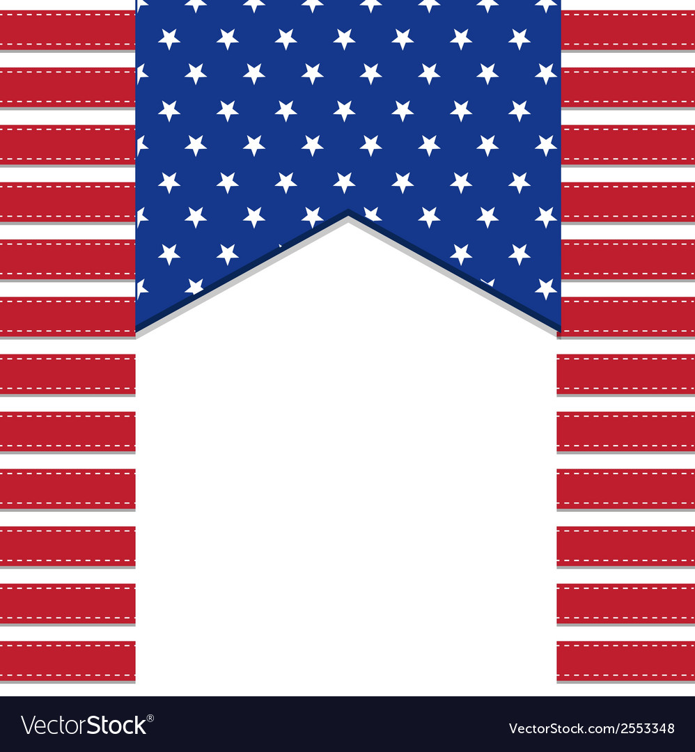 American flag background with stars symbolizing vector | Price: 1 Credit (USD $1)