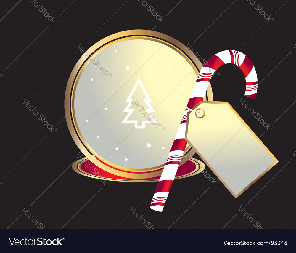 Candy canes background vector | Price: 1 Credit (USD $1)