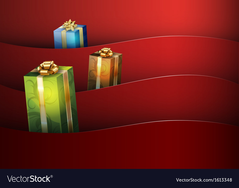 Christmas background red stripe wave vector | Price: 1 Credit (USD $1)
