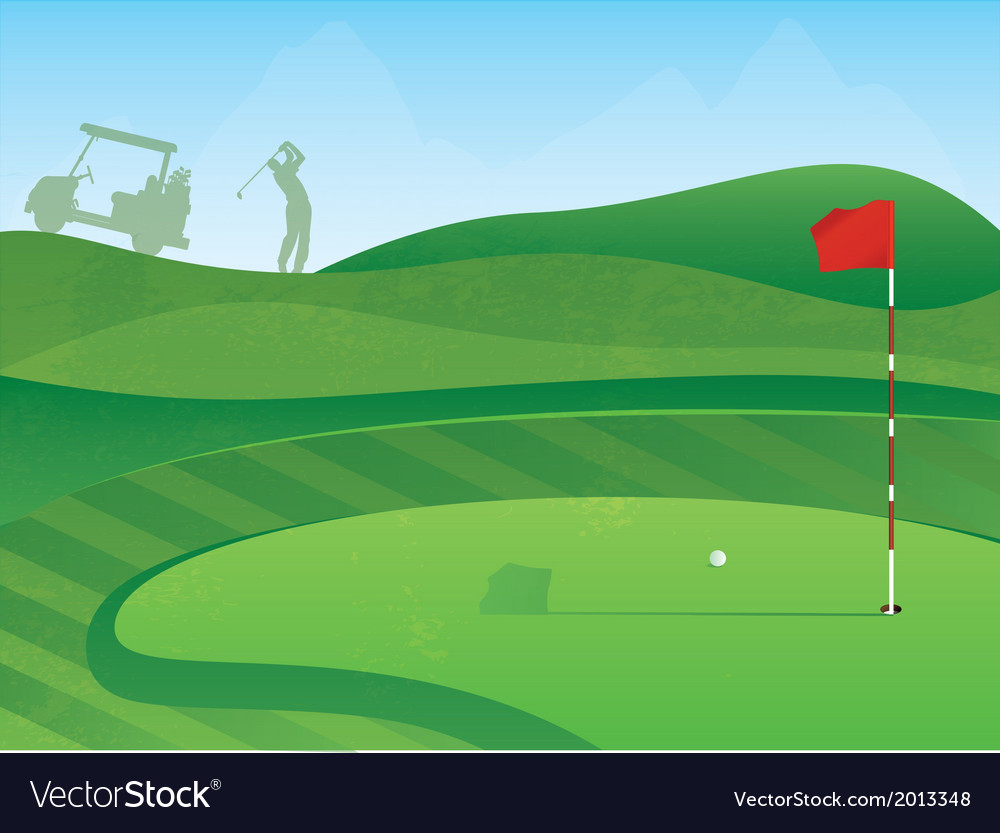 Golf course green vector | Price: 1 Credit (USD $1)