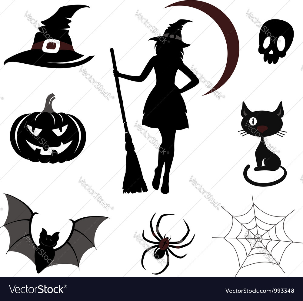 Halloween icons and emblems vector | Price: 1 Credit (USD $1)