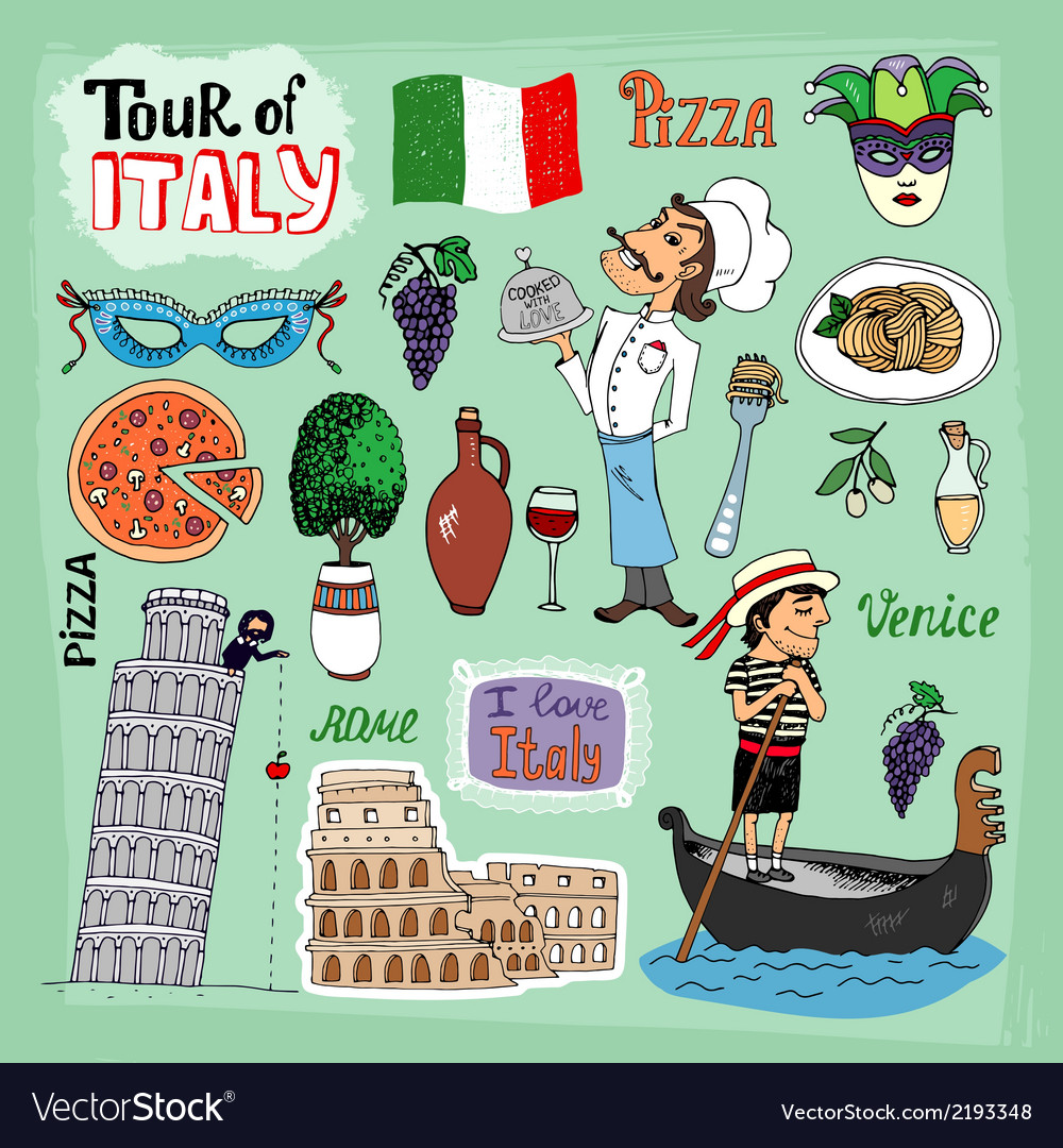 Tour of italy vector | Price: 1 Credit (USD $1)