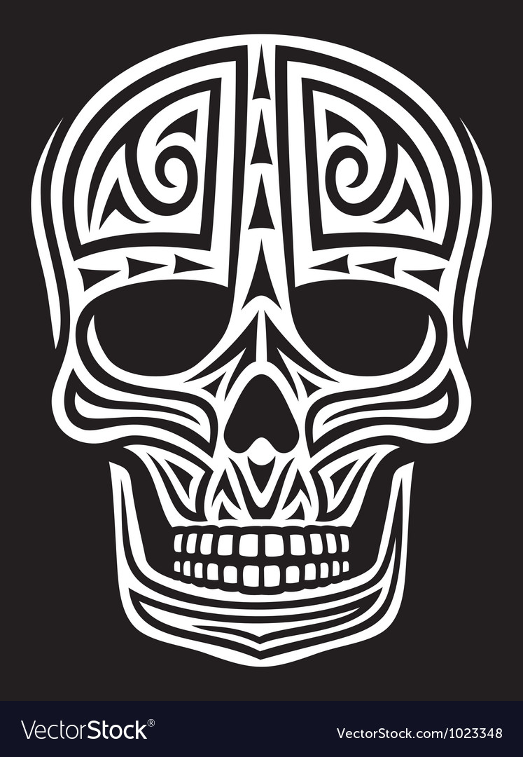 Tribal skull vector | Price: 1 Credit (USD $1)