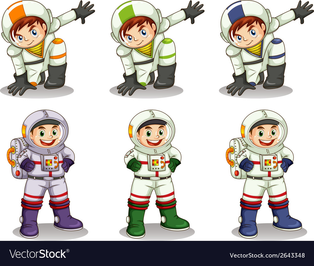 Young astronauts vector | Price: 1 Credit (USD $1)