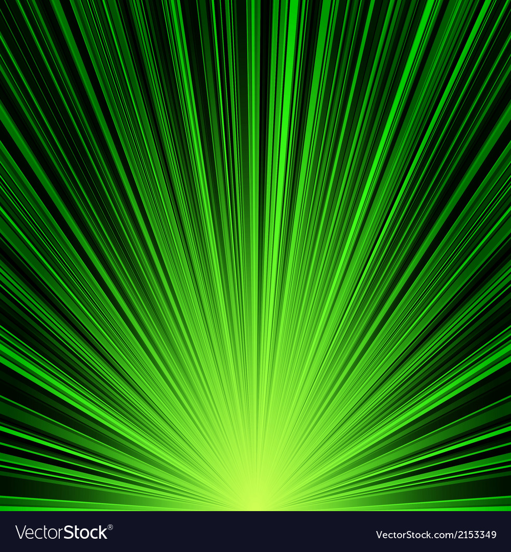Abstract green stripes burst background vector | Price: 1 Credit (USD $1)