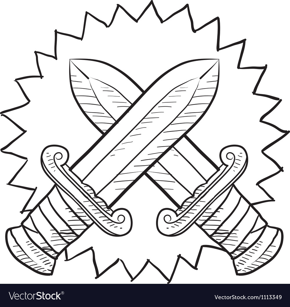 Doodle conflict swords vector | Price: 1 Credit (USD $1)
