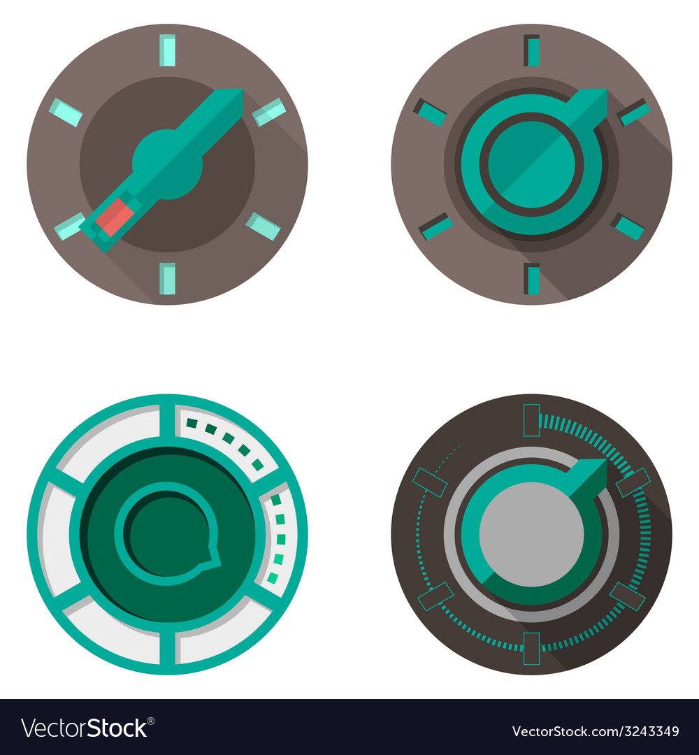 Flat icons for tumbler switches vector | Price: 1 Credit (USD $1)