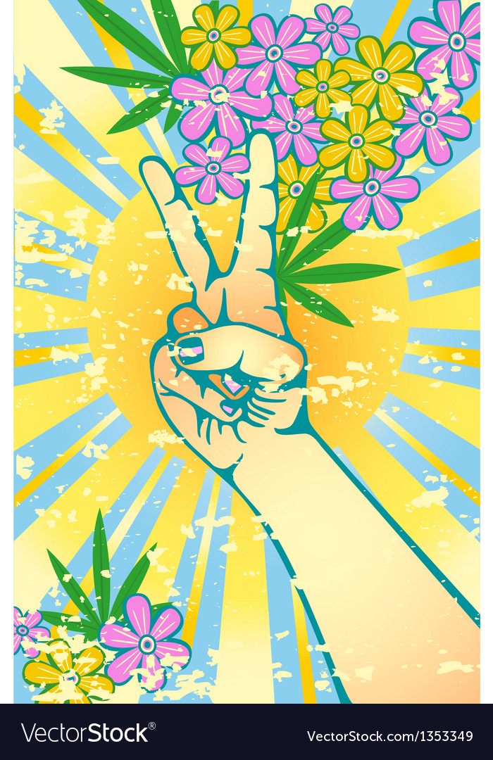 Flower power vector | Price: 1 Credit (USD $1)