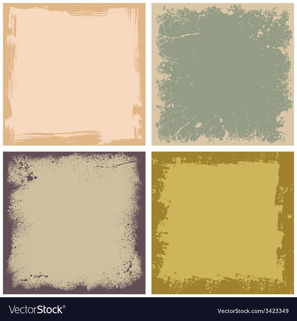 Four grunge frames vector | Price: 1 Credit (USD $1)