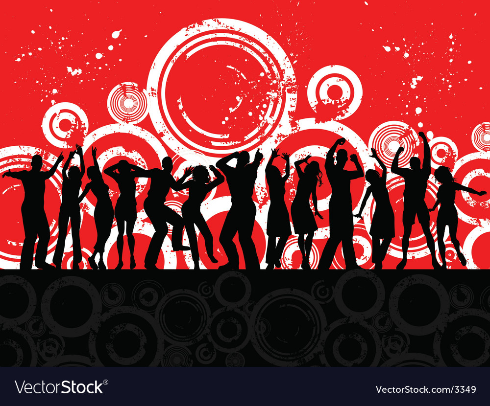 Grunge party people vector | Price: 3 Credit (USD $3)