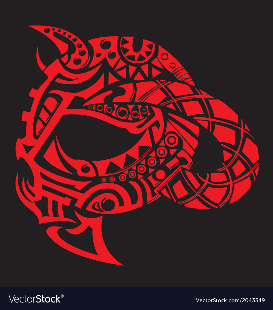Head eagle tribal tattoo for arms vector | Price: 1 Credit (USD $1)