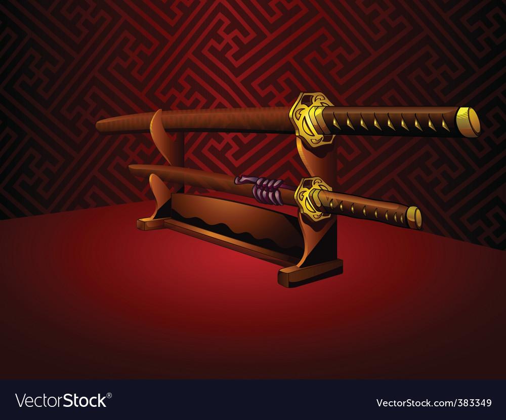 Katana swords vector | Price: 3 Credit (USD $3)