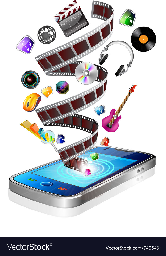 Mobile multimedia vector | Price: 5 Credit (USD $5)