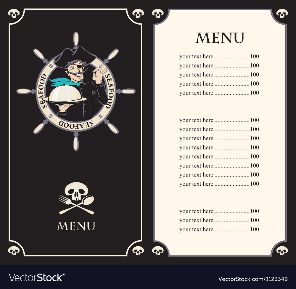 Pirate menu vector | Price: 1 Credit (USD $1)