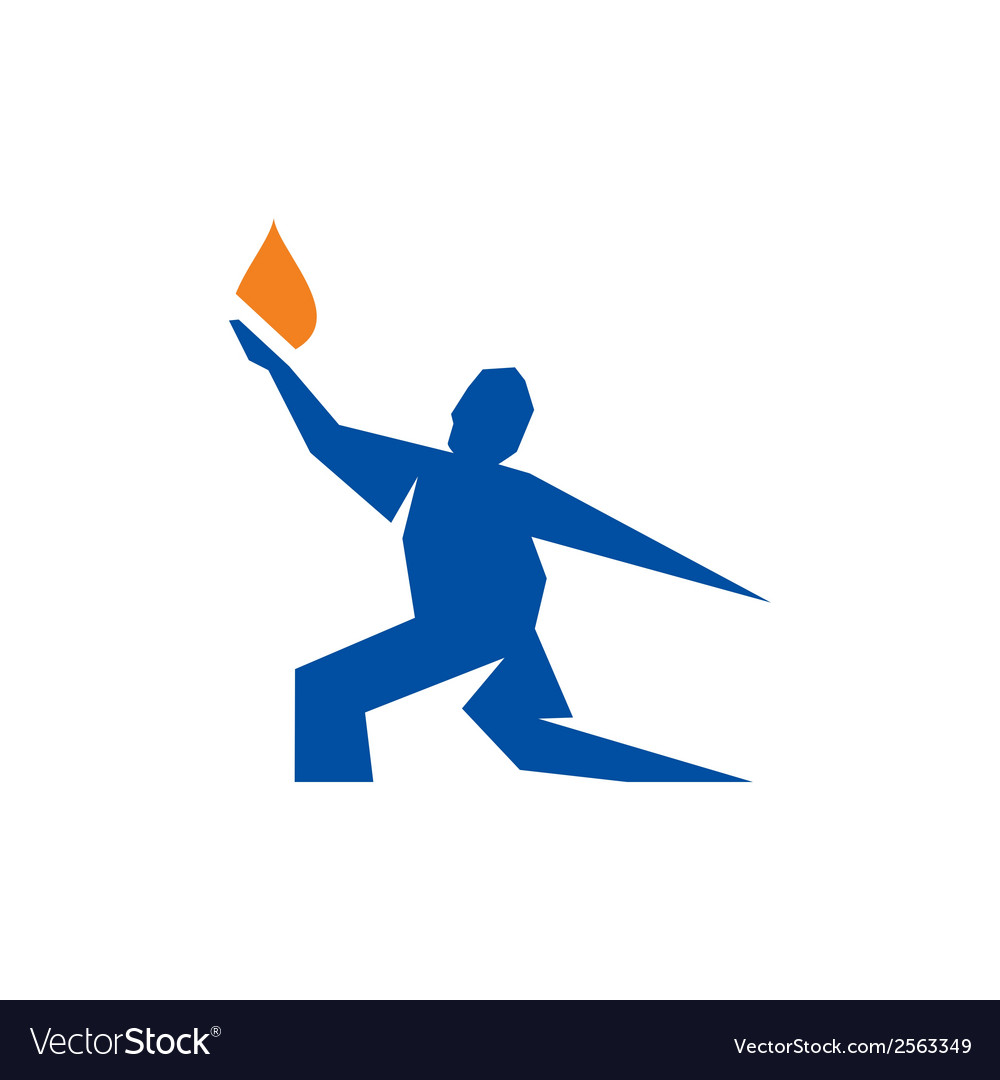 Prometheus brings fire sign vector | Price: 1 Credit (USD $1)