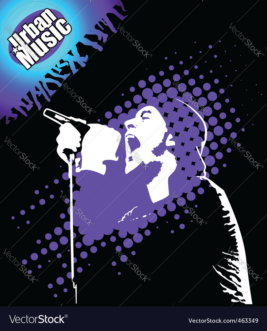 Rap music illustration vector | Price: 1 Credit (USD $1)