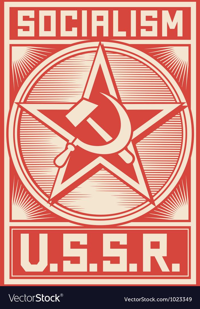 Soviet propaganda poster vector | Price: 1 Credit (USD $1)