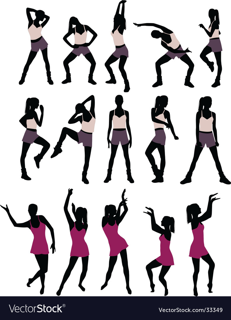 Sport silhouettes of women vector | Price: 1 Credit (USD $1)