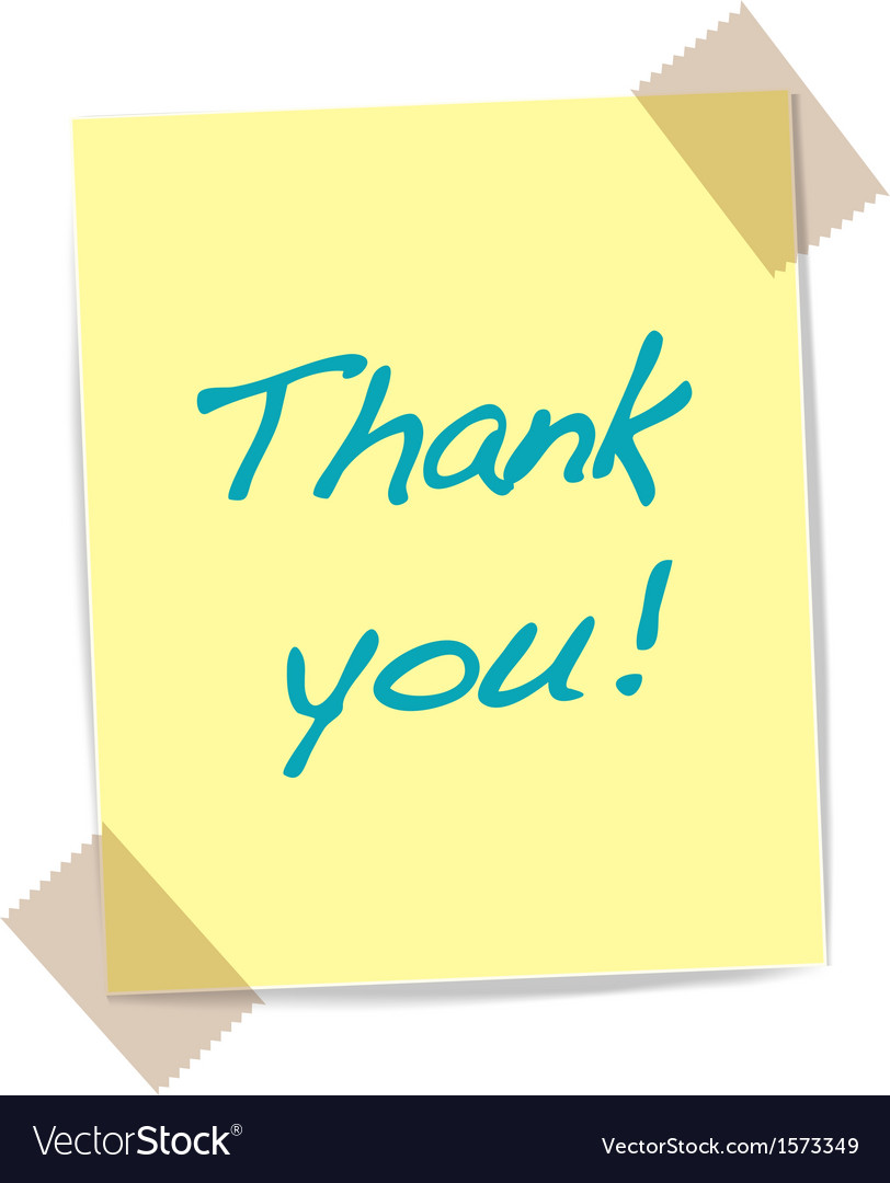 Thank you yellow sticker vector | Price: 1 Credit (USD $1)