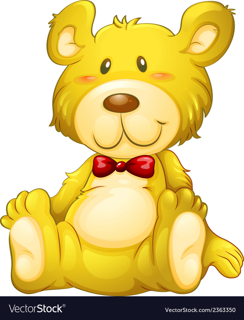 A huggable yellow bear vector | Price: 1 Credit (USD $1)