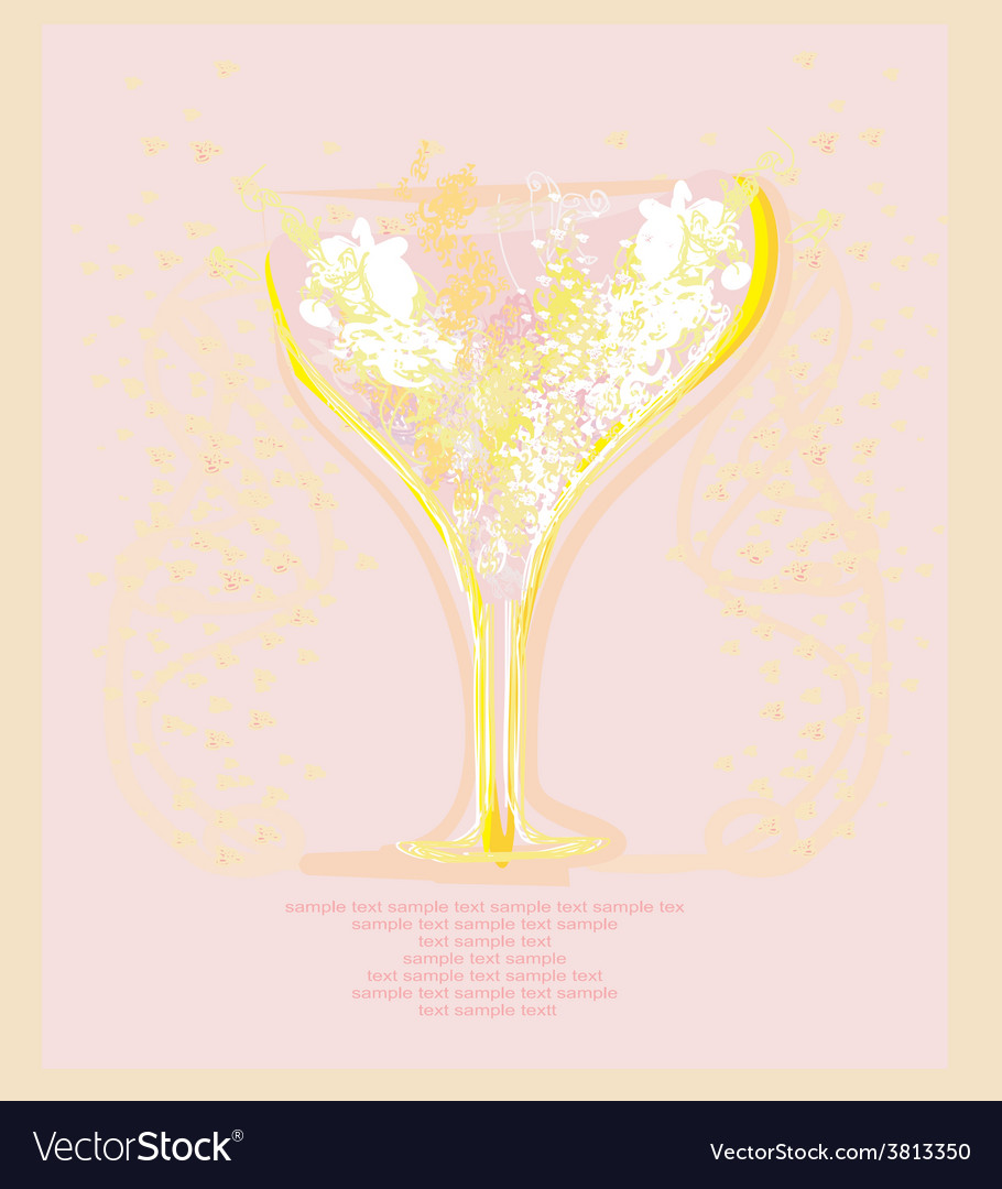 Invitation to cocktail party menu or bar card vector | Price: 1 Credit (USD $1)