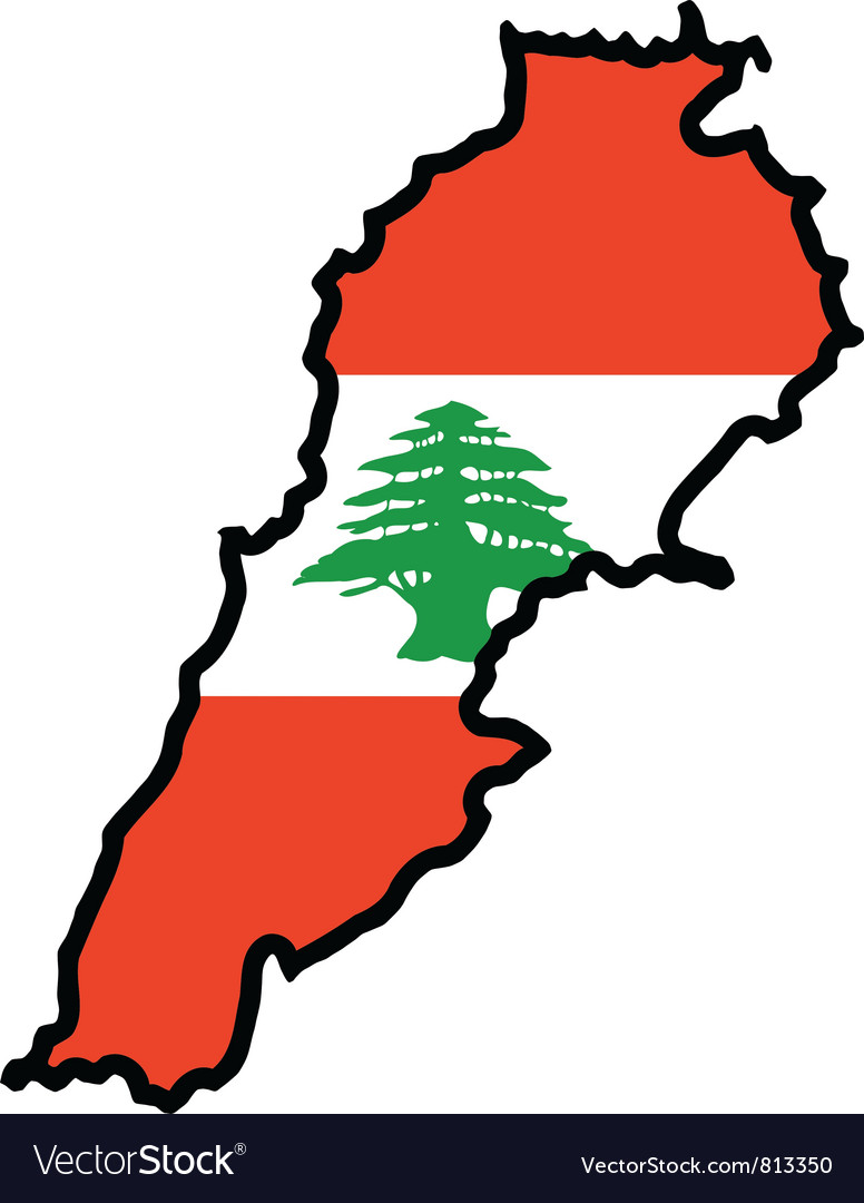 Map in colors of lebanon vector | Price: 1 Credit (USD $1)