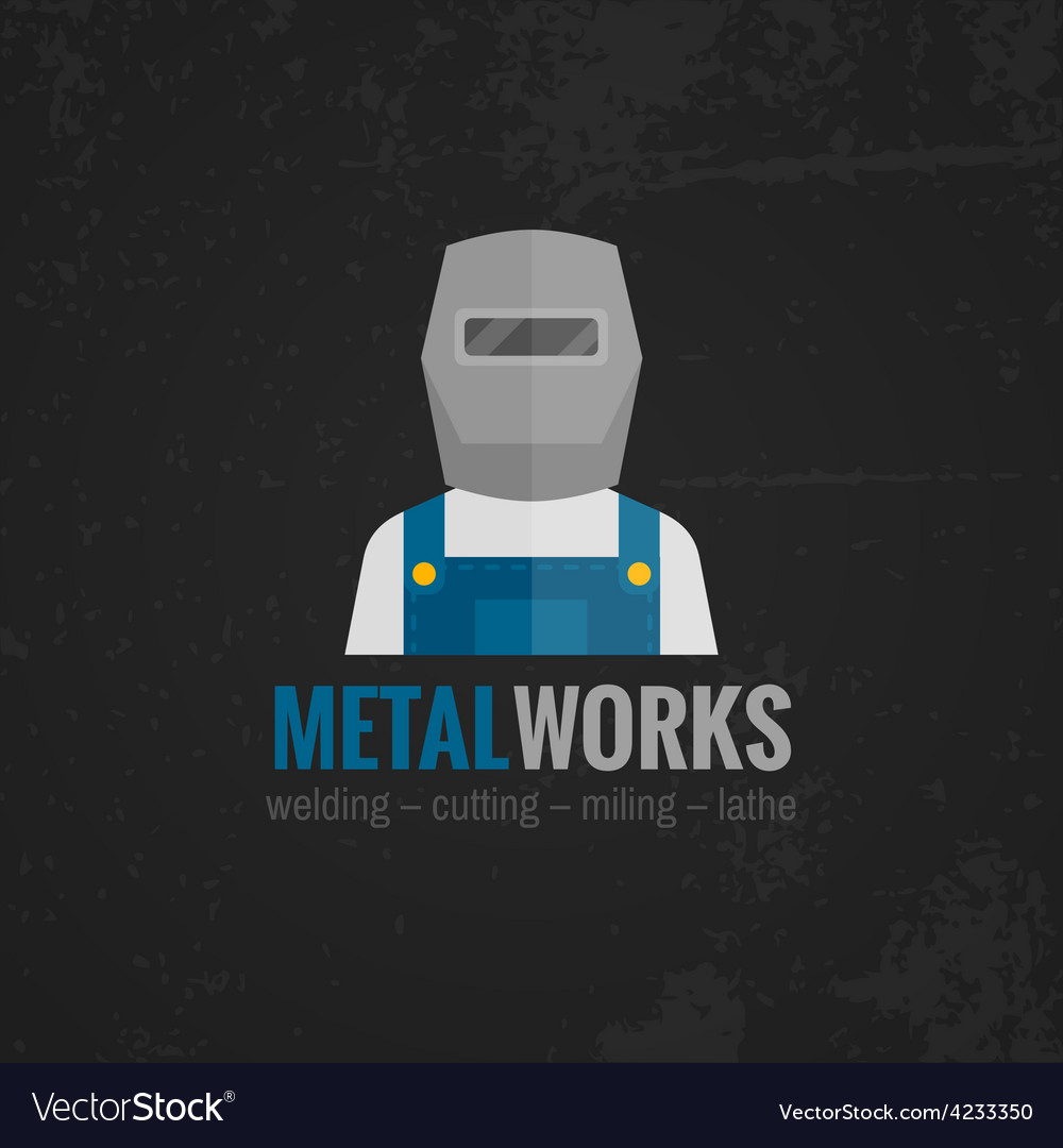 Metalworking icon poster flat vector | Price: 1 Credit (USD $1)