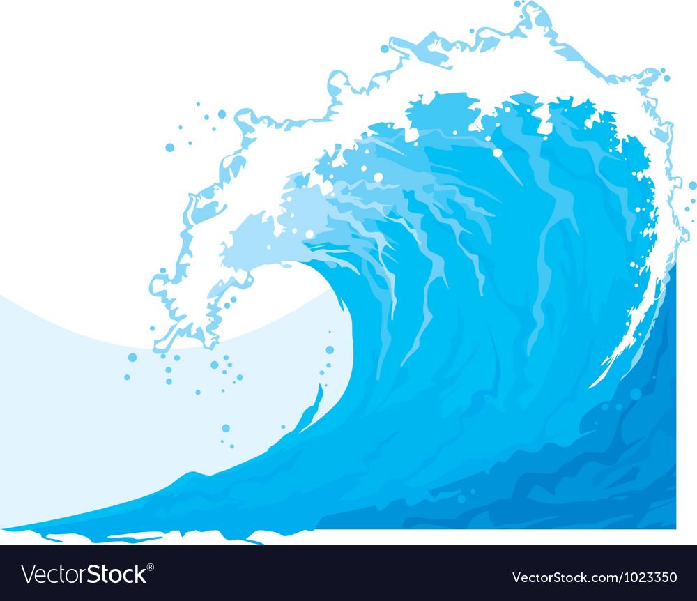 Ocean waves vector | Price: 1 Credit (USD $1)