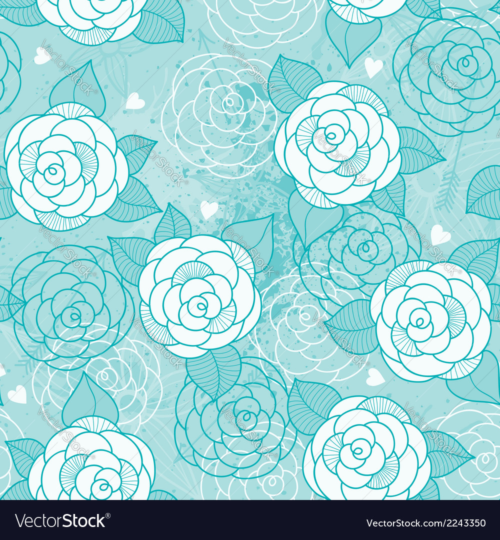 Seamless pattern with roses vector | Price: 1 Credit (USD $1)