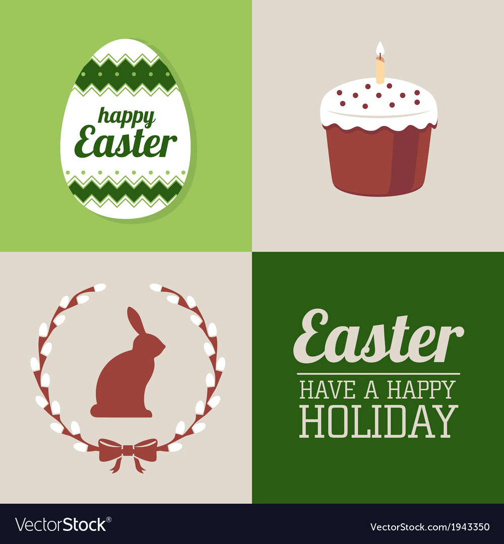Set of easter decorative elements and label vector   Price: 1 Credit (USD $1)