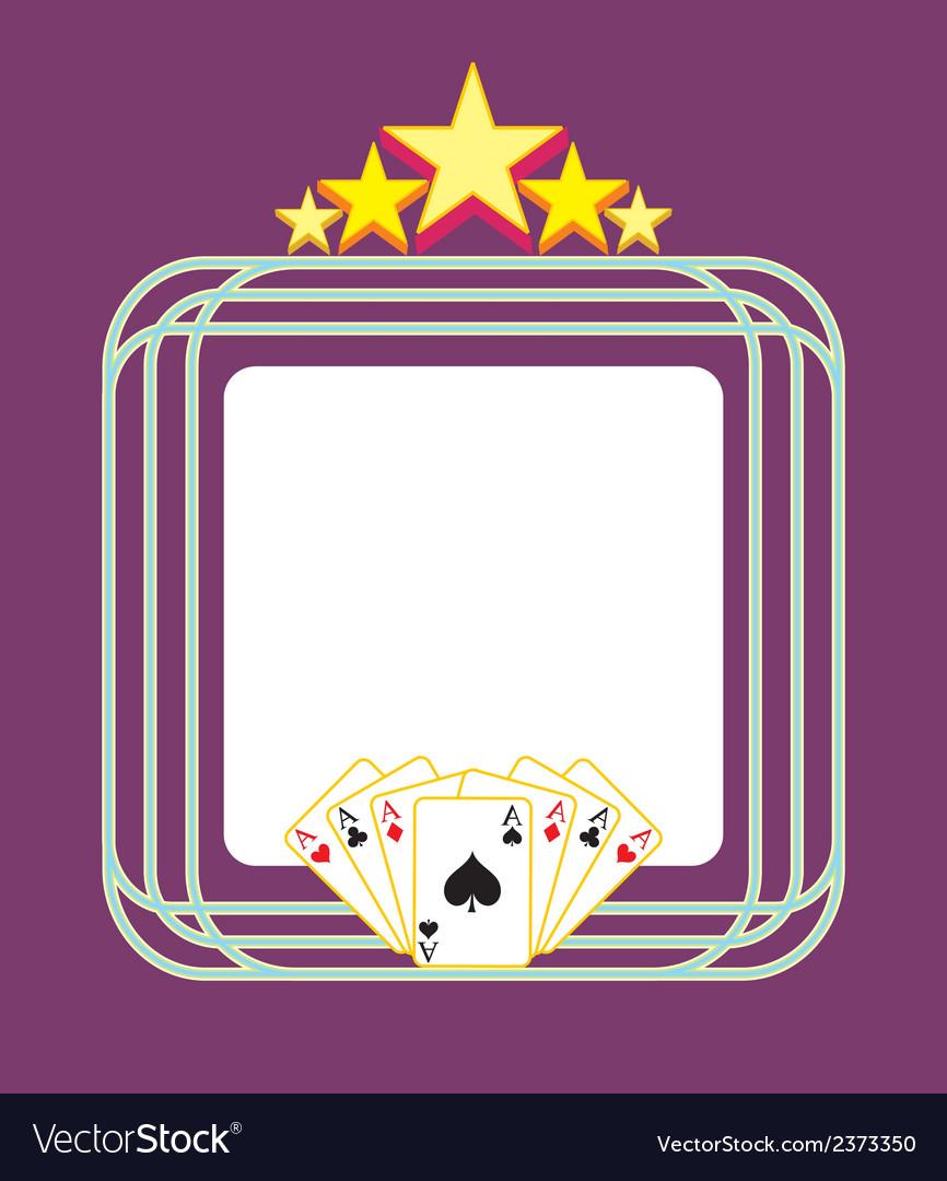 Template gambling light advertising vector | Price: 1 Credit (USD $1)