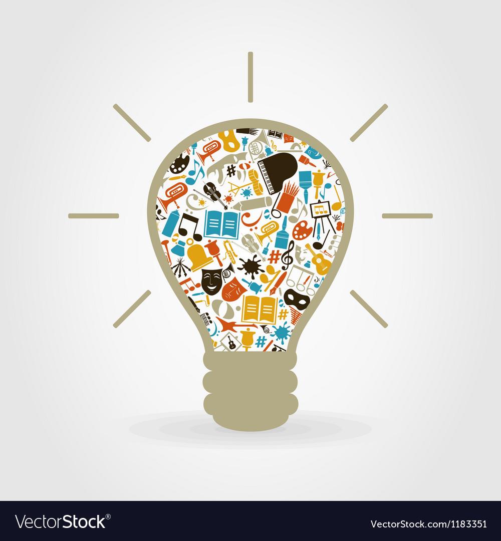Art a bulb vector | Price: 1 Credit (USD $1)