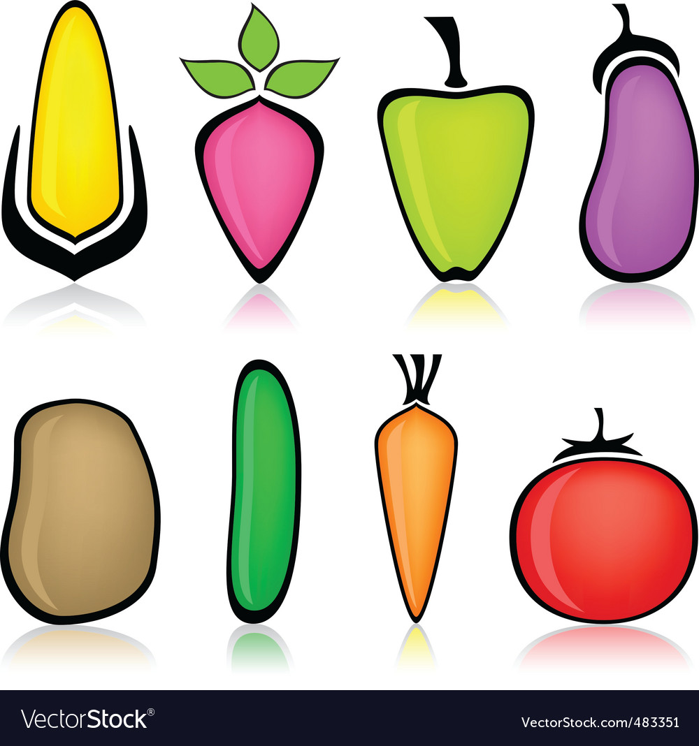 Cartoon vegetable vector | Price: 1 Credit (USD $1)