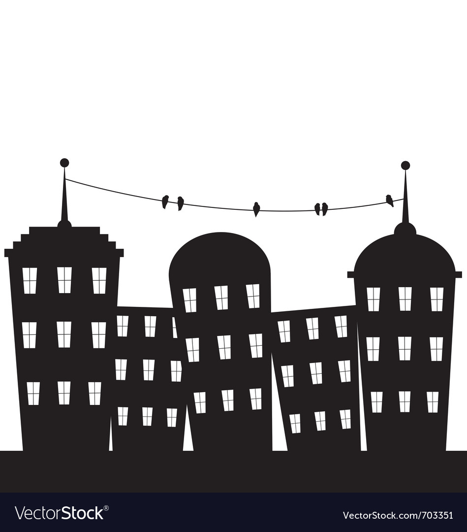 City black and white vector | Price: 1 Credit (USD $1)