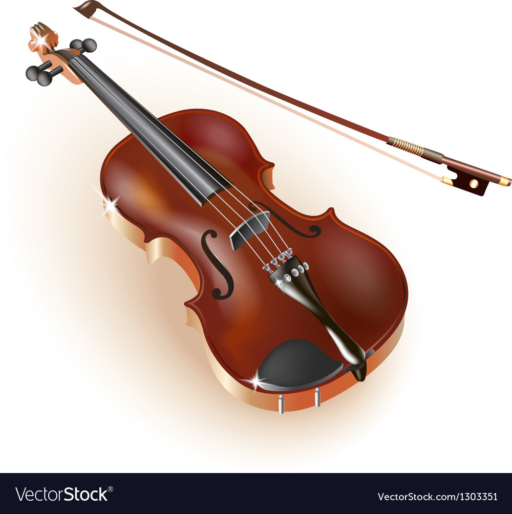 Classical violin on white background vector | Price: 1 Credit (USD $1)