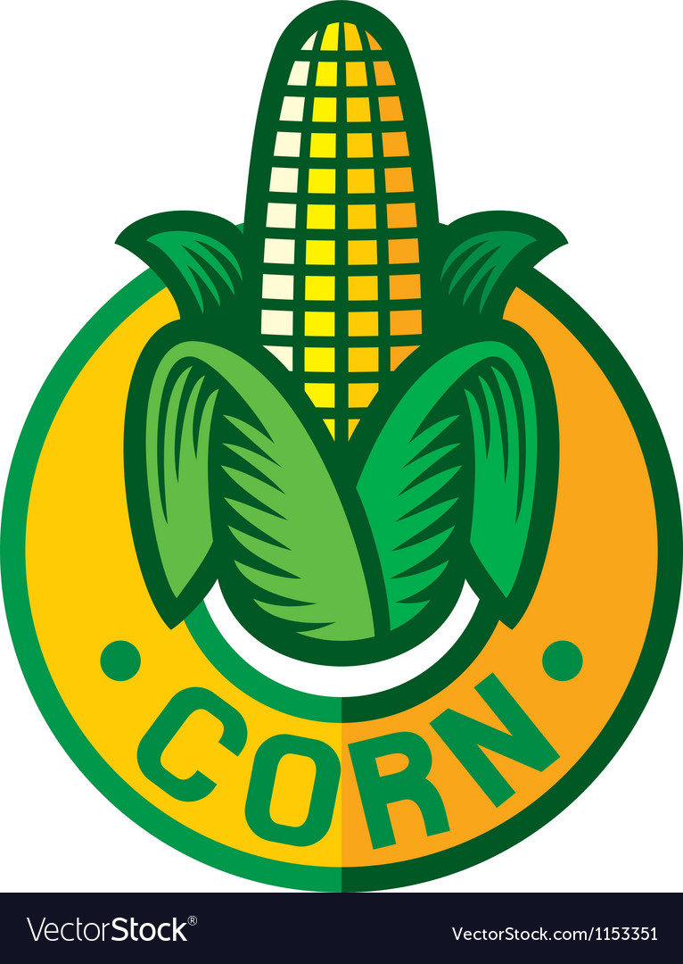 Corn label vector | Price: 1 Credit (USD $1)