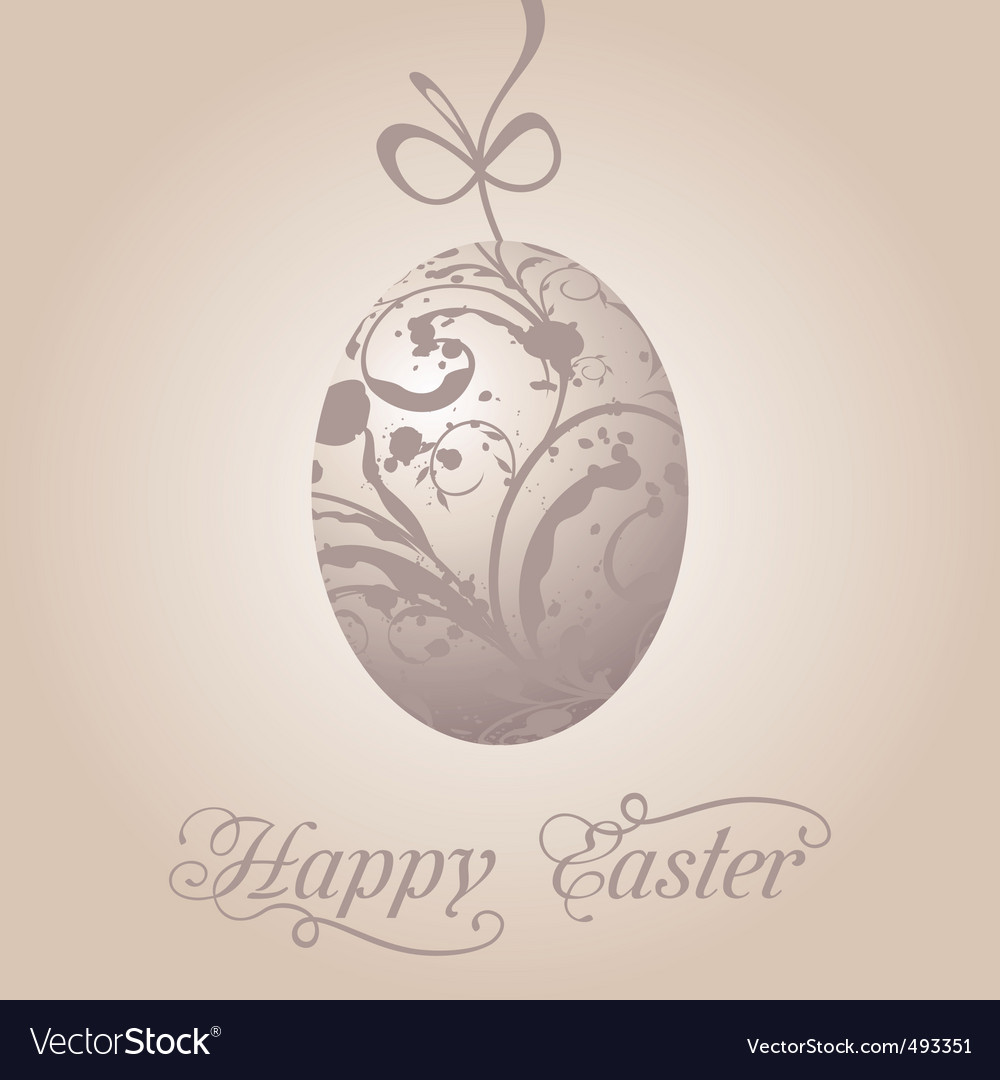 Easter paschal grunge egg vector | Price: 1 Credit (USD $1)