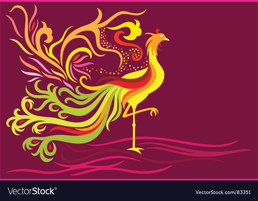 Fantasy phoenix vector | Price: 1 Credit (USD $1)