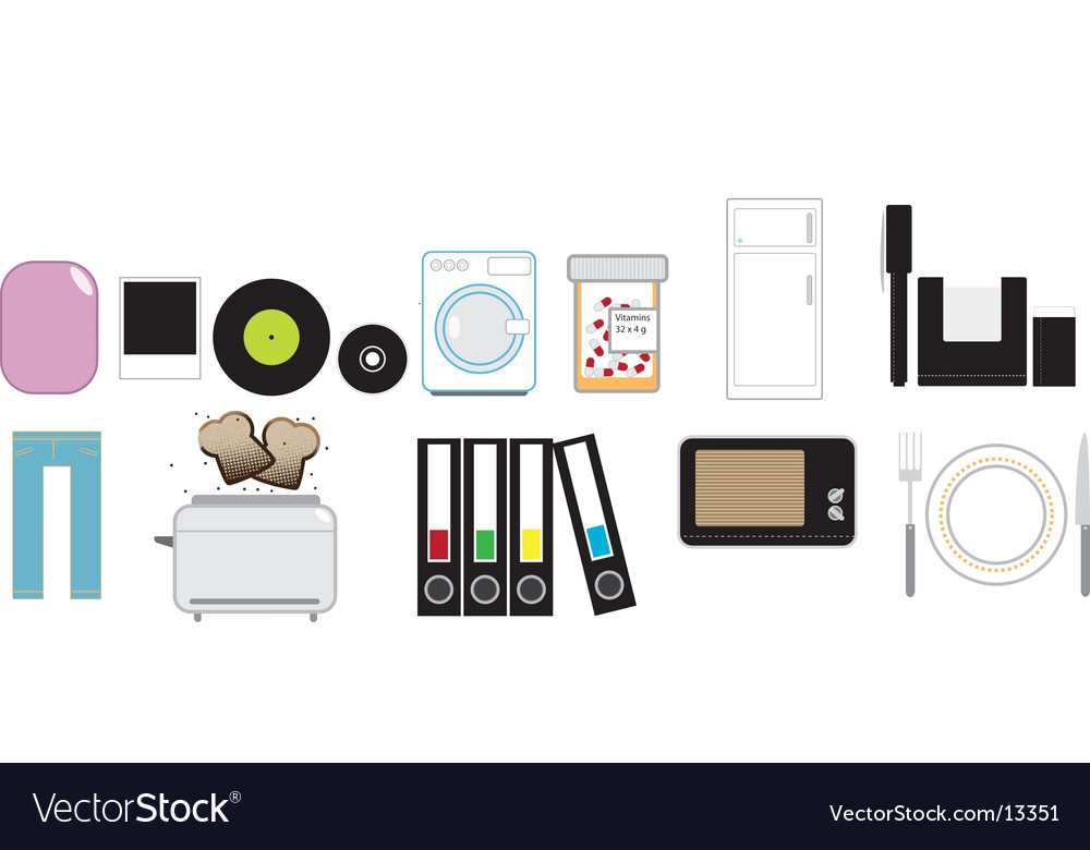 Household articles vector | Price: 3 Credit (USD $3)