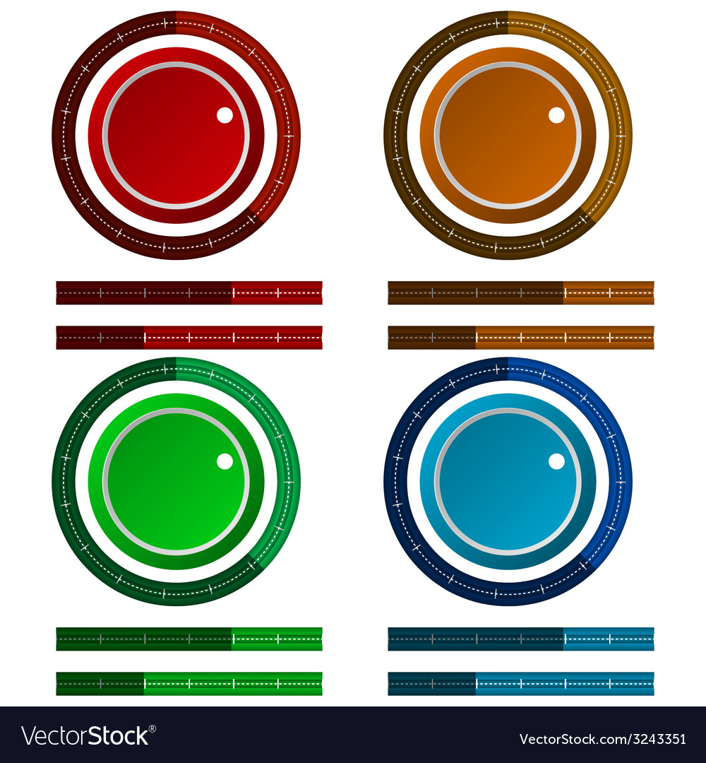 Icons for colored regulation switch scale vector | Price: 1 Credit (USD $1)