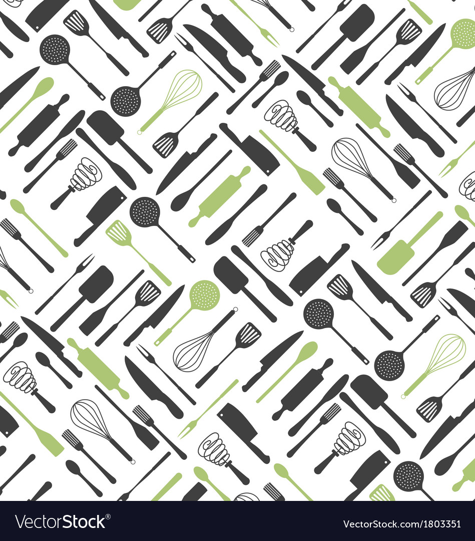Kitchen tools pattern vector | Price: 1 Credit (USD $1)