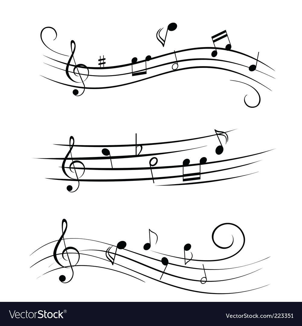 Music notes vector | Price: 1 Credit (USD $1)