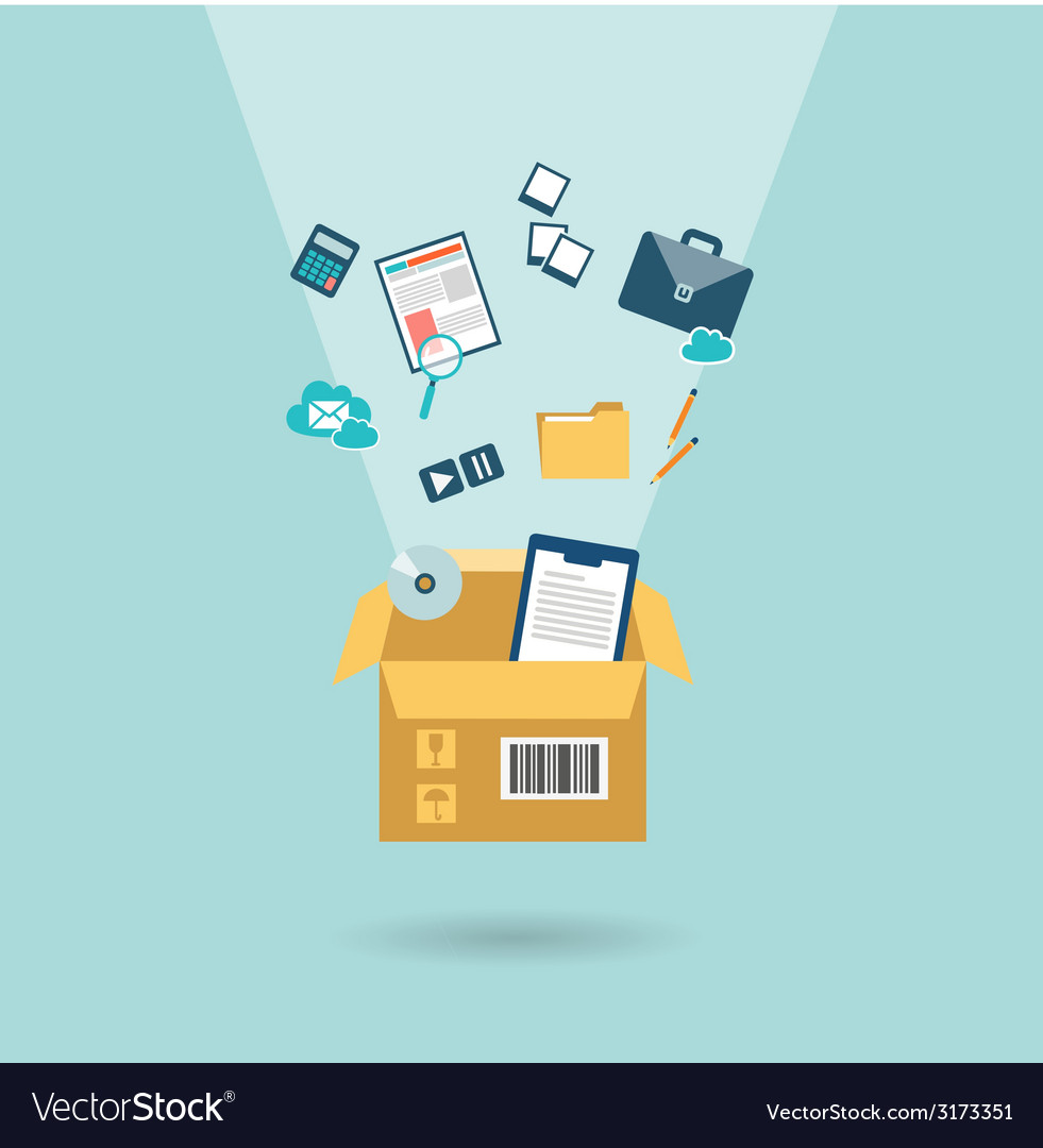 Office relocation icon vector