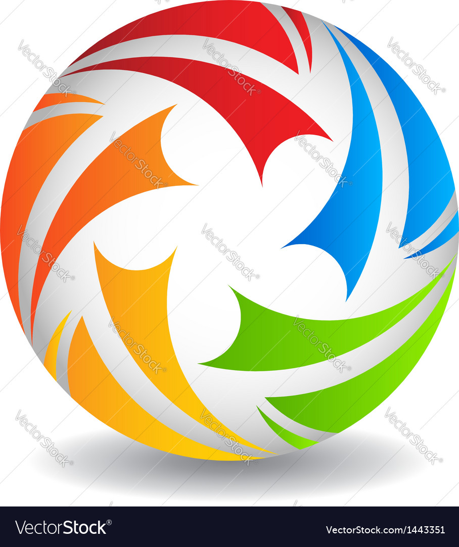 Play ball logo design vector | Price: 1 Credit (USD $1)