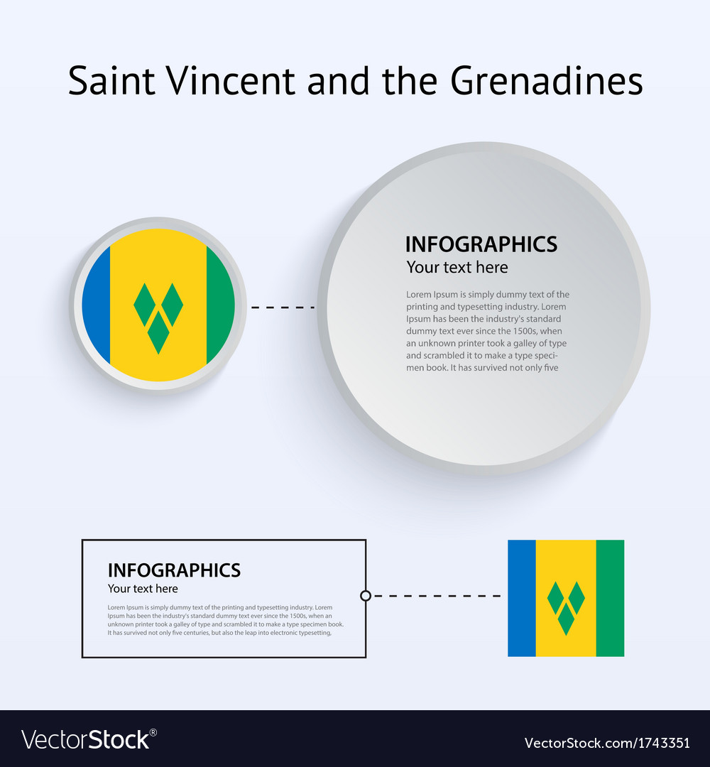 Saint vincent and grenadines country set of vector | Price: 1 Credit (USD $1)