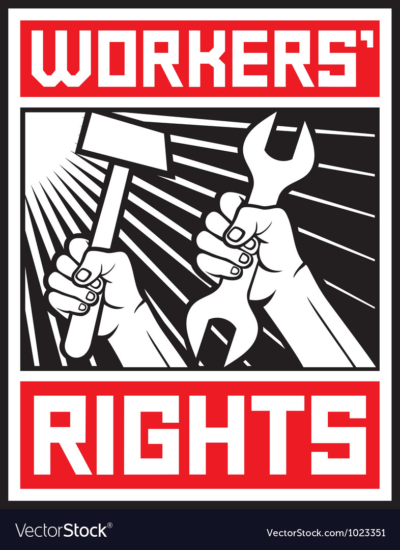 Socialist workers rights posters vector | Price: 1 Credit (USD $1)