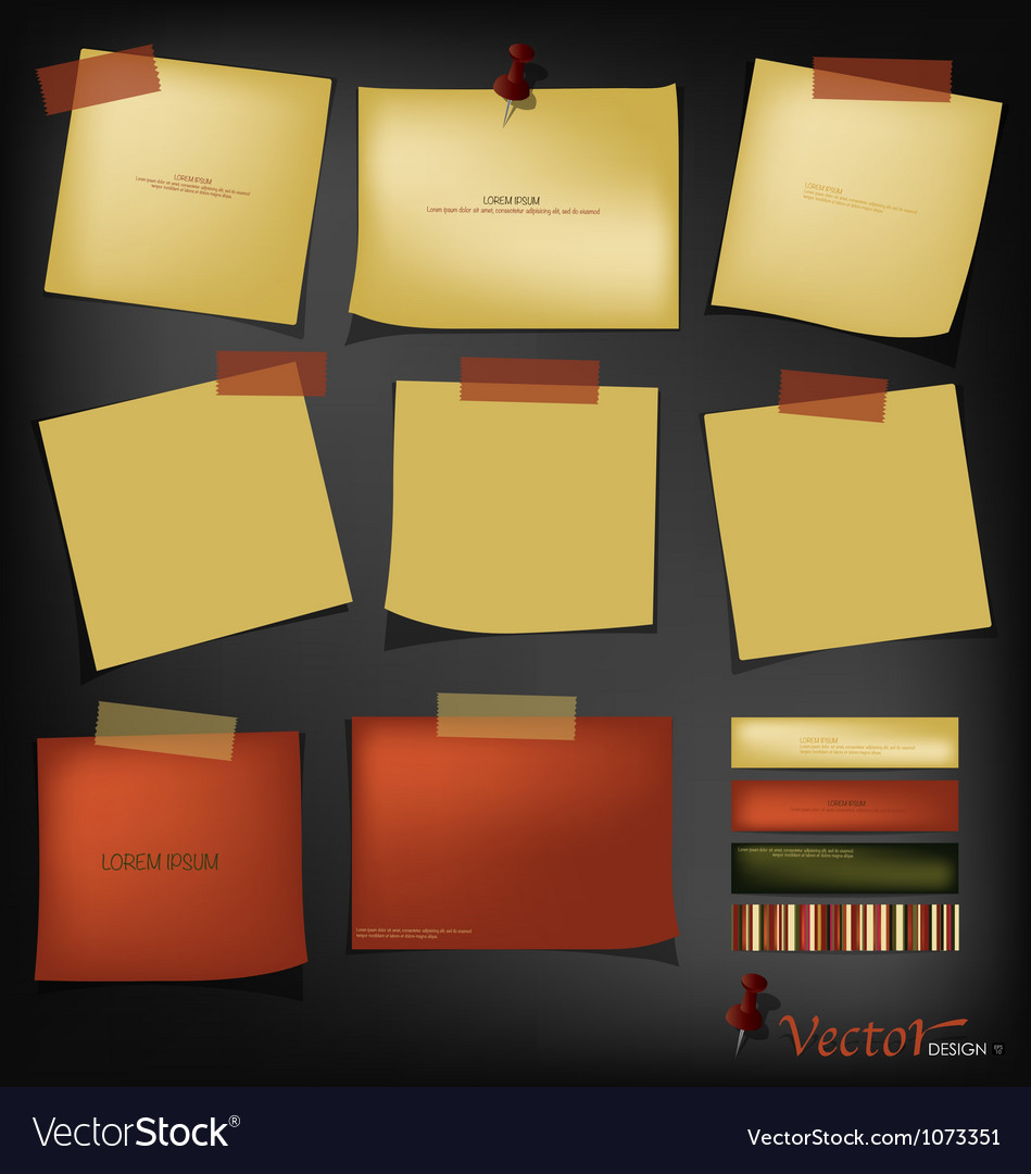 Vintage papers ready for your message vector | Price: 1 Credit (USD $1)