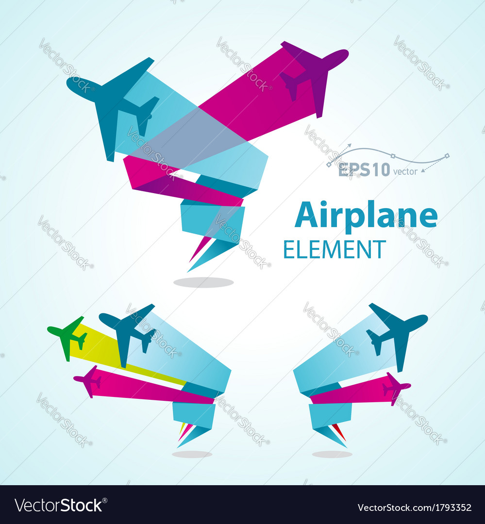 Airplane flight tickets air fly travel takeoff vector | Price: 1 Credit (USD $1)