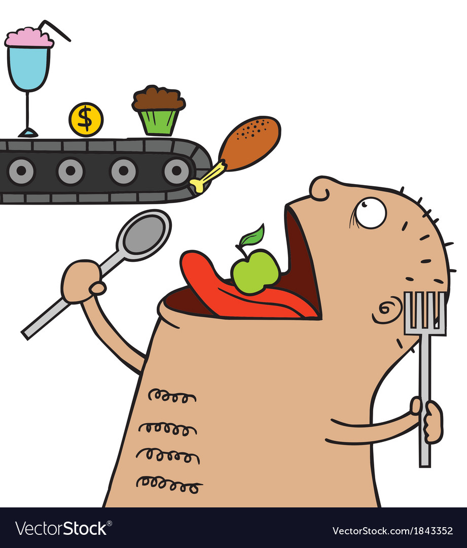 Hungry creature vector | Price: 1 Credit (USD $1)