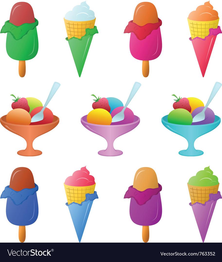 Ice cream set vector | Price: 1 Credit (USD $1)